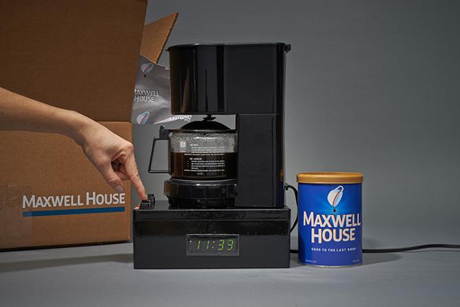 Maxwell House Coffee Maker Alarm Clock - Kevin Shaw